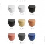 Art Ceram | Serie File 2.0 | wandhängendes WC | spülrandlos|  8 Farben
