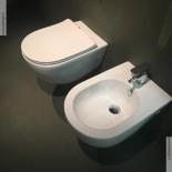 Art Ceram | Serie File 2.0 | wandhängendes WC und Bidet | spülrandlos | weiß