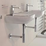 Waschtisch Dial 45 | weiß | Wandversion DL50 | bicolor