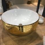 Aufsatz-Waschschale Giò 42 | weiß / Pois gold (077)