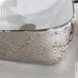 Aufsatz-Waschschale Giò 43 | weiß / platinum sand (070) | mit dünnem Rand