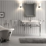 Hidra | Ellade | klassische Waschtischkonsole mit Chrom-Untergestell