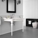 Hidra | Ellade | klassische Waschtischkonsole mit Keramik-Beinen Slim