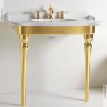 Hidra | Ellade | klassische Waschtischkonsole mit Keramik-Beinen | weiß gold Peel (057)