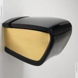 Hi-Line   Wand-WC   schwarz / gold (00)