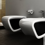 Hi-Line   Wand-WC / -Bidet Kombination   weiß / schwarz