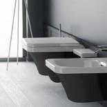 Hidra | Flat | Wand-WC und Bidet | weiß/schwarz
