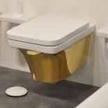 Hidra | Flat | Wand-WC | weiß/gold