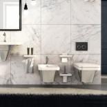 Hidra | Flat | Wand-WC & Wand-Bidet | weiß/silber | Accessoirs Piano