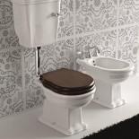 Ellade Stand-WC mit Bodenabgang | mit Wandspülkasten