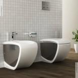 Hidra | Stand-Bidet und Stand WC Hi-Line | weiß / silber | (014)