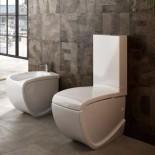 Hidra   Stand-WC mit Spülkasten   Hi-Line   weiß