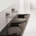 Waschtisch OZ | 95cm | Rechtsversion DX | schwarz glänzend
