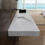 Waschtisch OZ | 95cm | Rechtsversion DX | weiß
