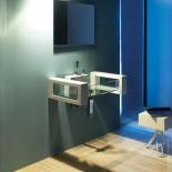 Wandhängender Waschtisch Glass | 80cm mit Armaturenbank