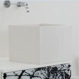 Waschtischschale Box | weiß glänzend