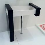 Waschtischschale Box | weiß mit Keramiksäulen