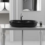 GSG | Time | klassische Aufsatz-Waschschale | 65cm | schwarz glänzend