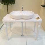 GSG | Time | klassische Aufsatz-Waschschale | 65cm | weiß glänzend