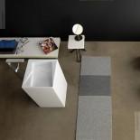 Waschtischsäule OZ | weiß glänzend