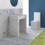 Waschtischsäule Box | 80cm | wandstehend
