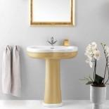 GSG | Time | klassischer Waschtisch mit Standsäule | weiß/gold | 95cm