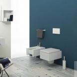GSG | Wand WC und Bidet | Ambiente Serie Box | weiß | Soft Close WC-Sitz
