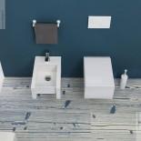 GSG | Wand WC und Bidet | Serie Box | weiß | Soft Close WC-Sitz