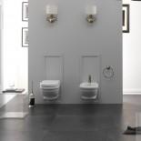 Wand-WC und Bidet der Serie Time Collection von GSG | weiß
