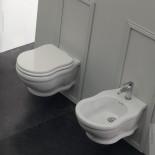Wand-WC und Bidet aus der Serie Time Collection von GSG | weiß