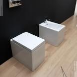 GSG | Stand WC und Bidet | Serie OZ | weiß | mit WC-Sitz