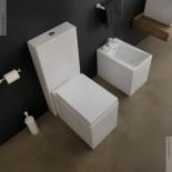 GSG | Stand WC mit Spülkasten | Serie OZ/Box | weiß | Soft Close WC-Sitz