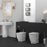 Stand-WC und Bidet aus der Serie Time Collection von GSG | weiß