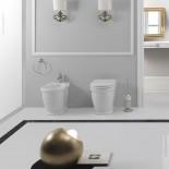 Stand-WC und Bidet der Serie Time Collection von GSG | weiß
