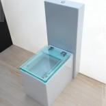 Stand-WC mit Spülkasten | Serie Glass | transparenter WC-Sitz