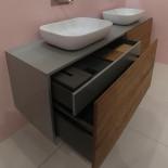 GSG | Top Class | Waschtischunterschrank mit 4 Auszügen (2 Innenauszüge) | 200cm