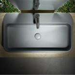 Waschbecken Cosa 80.45| Aufsatz- oder Wandwaschtisch | 80cm | grau matt