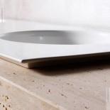 Standwaschtisch mit Einbauwaschbecken Skyland 120x55 | Travertin