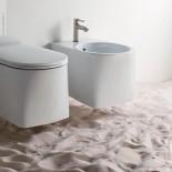 Axaone | Wandbidet Serie DP | weiß glänzend