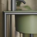 Axaone Piloti' | Standwaschtisch | 54x48 | verde bamboo matt | visione matt