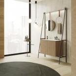 Axaone Altalena | Standwaschtisch | 110x48 | weiß matt | Rovere Naturale