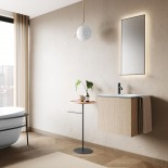 Axaone Cubo Waschtisch/Unterschrank-Kombination | 53x48 | weiß matt | Rovere Naturale