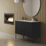 Axaone Regolo | Waschtischmöbel | 107x48 | weiß matt | Pino Nero