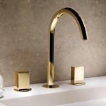 3 Loch-Armatur Venezia   gold plus   Griffe: glatt - gold plus