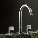 3 Loch-Armatur Venezia | chrom | Griffe: glatt - chrom