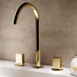 Dreilocharmatur Venezia | Gold plus | Griffe: galvanisiert glatt