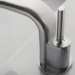 Waschtischarmatur Pao Joy | Einhebelmischer | Nickel gebürstet