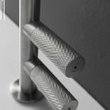 Zweigriffmischer 22mm | Rechthand-Bedienung | Edelstahl gebürstet | Auslaufhöhe: 160mm