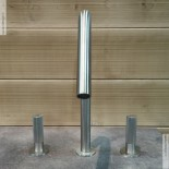 3-Loch-Waschtischmischer 22mm | Zweigriff-Bedienung | Edelstahl gebürstet | Auslaufhöhe: 160mm