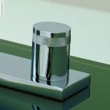 Treemme | Waschtischmischer X-Change | chrom | runder Querschnitt | große Grundplatte | Griffe: XR